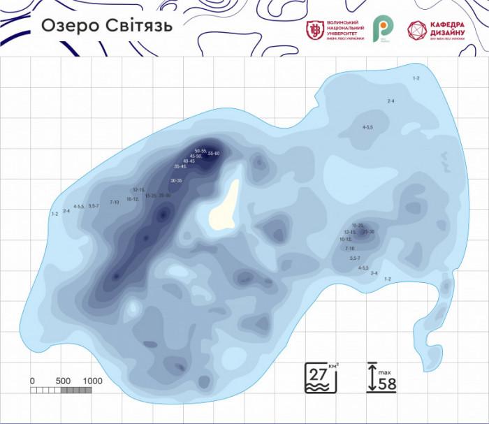 Візуальізація глибин озера Світязь