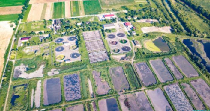 Очисні споруди у Липнянах з висоти