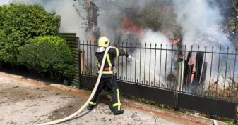 Під час гасіння пожежі