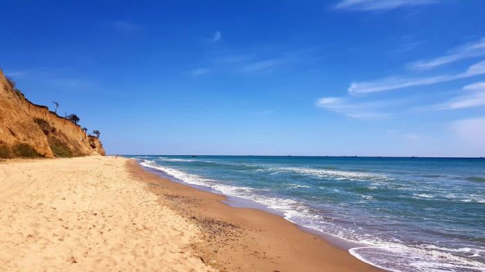 Пляж в Санжійці