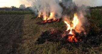 В Устилузькій громаді рятувальники виявили паліїв сухої трави