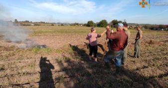 У Горохівській громаді ловили паліїв сухої рослинності