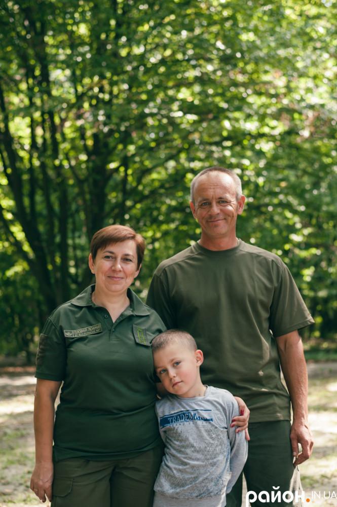 Наталія Козій з чоловіком та сином