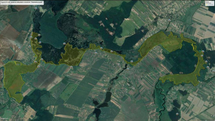 Гідрологічний заказник «Перемильський» на Публічній кадастровій карті України