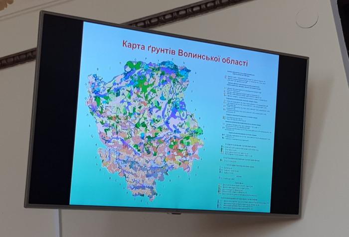Мапа ґрунтів Волині